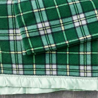 Wild Orchid Farm - Cape Breton Tartan with Green Satin