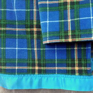 Wild Orchid Farm - Nova Scotia Tartan with Blue Satin