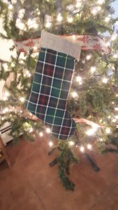 Newfoundland Tartan Christmas Stocking