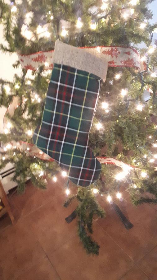 Newfoundland Tartan Christmas Stocking