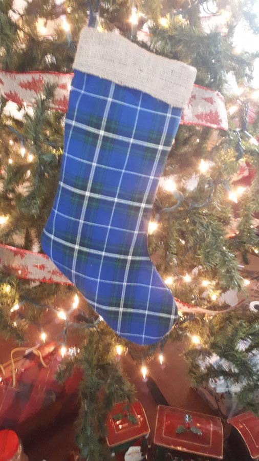 Nova Scotia Tartan Christmas Stocking